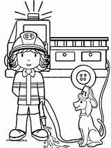 Fire Firefighter Coloring Pages Printable Fireman Tools Preschoolers Fighter Sam Getdrawings Sheet Getcolorings Colorings sketch template