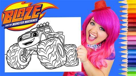coloring blaze   monster machines coloring page prismacolor pencils kimmi  clown