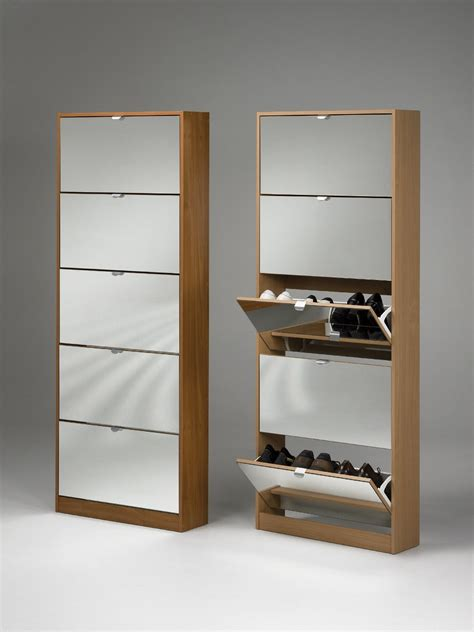 shoe storage cabinet with doors furniture white wooden shoe storage with three rectangle