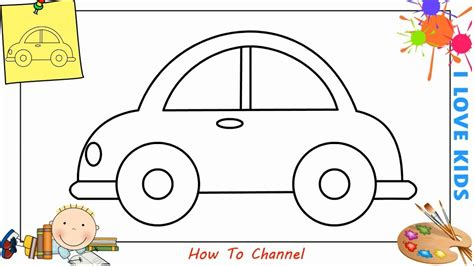 How To Draw A Car Step By Step With Pictures by How To Draw A Car Easy Step By Step For Beginners