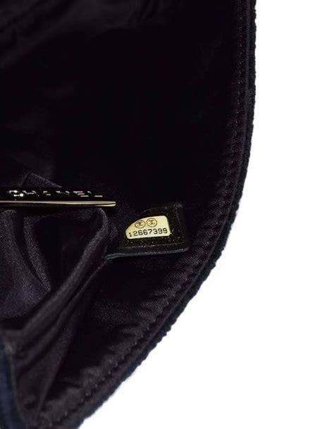 chanel sport black terrycloth cc pochette bag  sale  stdibs
