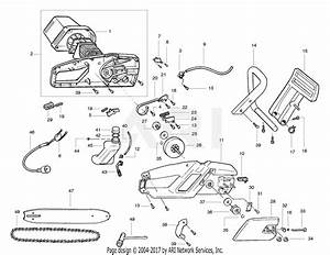 Poulan Pp300e Electric Saw  300e Electric Saw Parts Diagram For Chain Saw Assembly