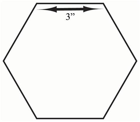 Number Names Worksheets » Hexagon Shape Template
