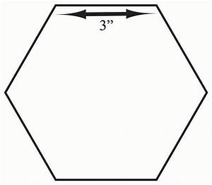 number names worksheets hexagon shape template free With 3 inch hexagon template