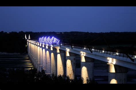 high trestle trail bridge  night flickr photo sharing