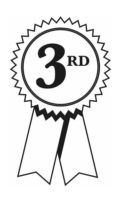 Clipart 3rd Third Sash Three Number Sports