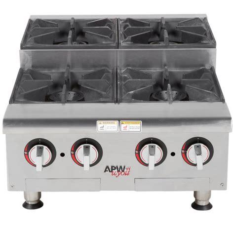 propane countertop stoves apw wyott hhps 424 liquid propane heavy duty 4 burner step