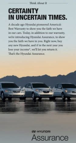 Hyundai Assurance Program by Hyundai Says Assurance Program Is Effective