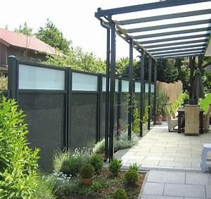 zaune sichtschutz aluminium pulverbeschichtet With französischer balkon mit beistelltisch aluminium garten