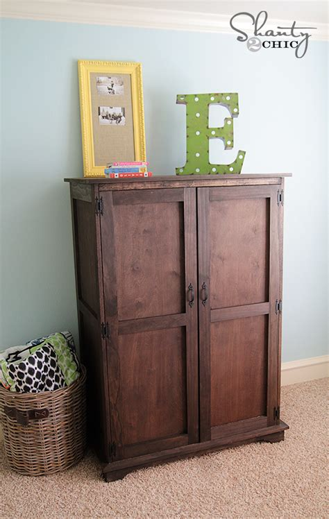 pottery barn inspired armoire  plans shanty  chic