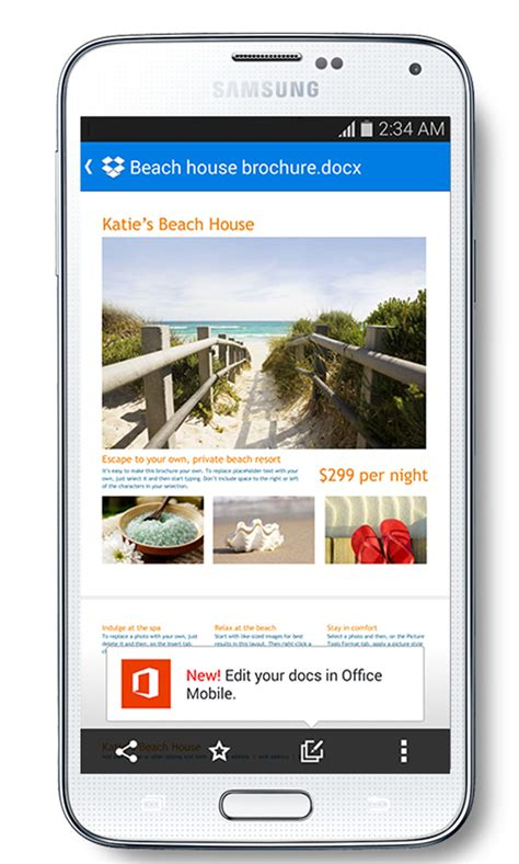 dropbox integreert microsoft office  app droidapp
