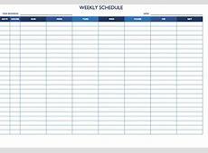 Blank Weekly Schedule Best Quality Loving Printable