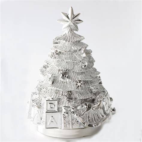 silver plated musical christmas tree arioso budapest