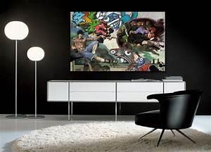 Tableau Contemporain Grand Format : tableau moderne grand format salon accueil design et mobilier ~ Teatrodelosmanantiales.com Idées de Décoration