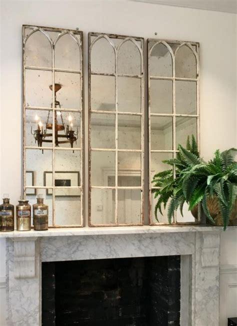 aged white architectural decorative mirror panels