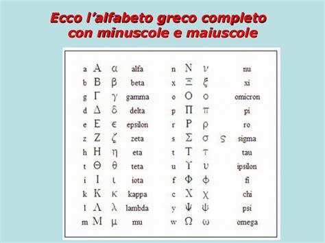 lettere alfabeto greco antico 1 prima lezione di greco