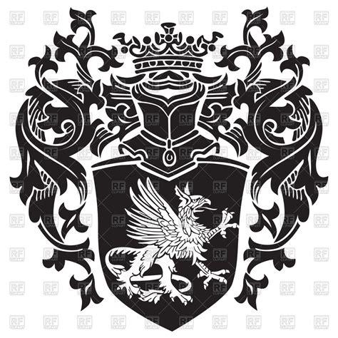 royal coat  arms  heraldic gryphon vector image