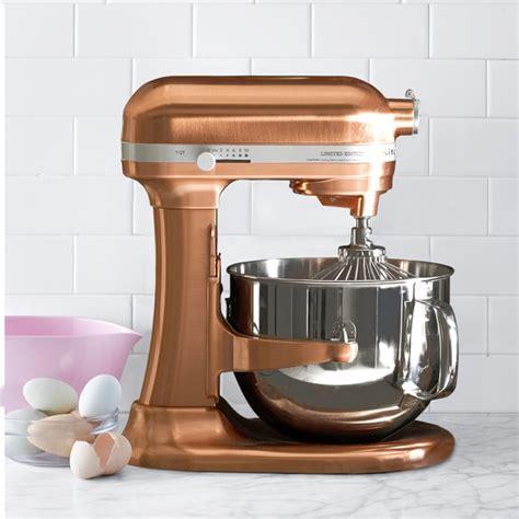 kitchenaid pro  copper stand mixer  qt williams sonoma
