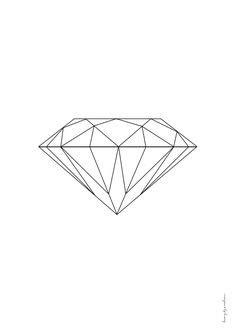 simple diamond drawing - Google Search … | Diamond drawing, Geometric drawing, Gem drawing