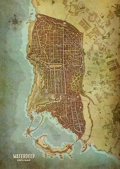 Realms Forgotten Dragons Waterdeep Maps Dungeons Map