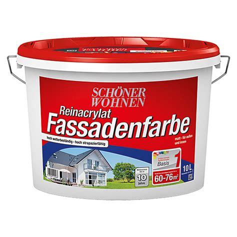 Schöner Wohnen Hybrid Fassadenfarbe by Sch 246 Ner Wohnen Reinacrylat Fassadenfarbe Basismischfarbe