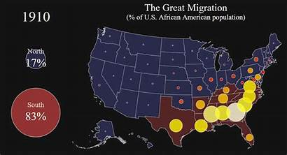 Migration African Population American Percentage Map States