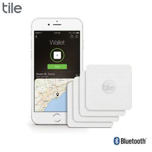 tile slim bluetooth tracker device four pack white