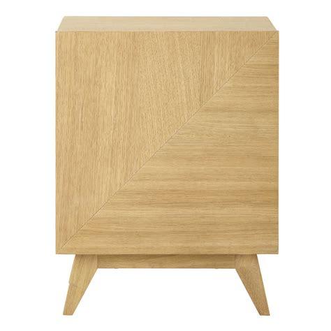 porte en bois de chambre table de chevet en bois l 42 cm origami maisons du monde