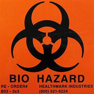 surgical instrument bio hazard labels bio hazard With autoclavable labels