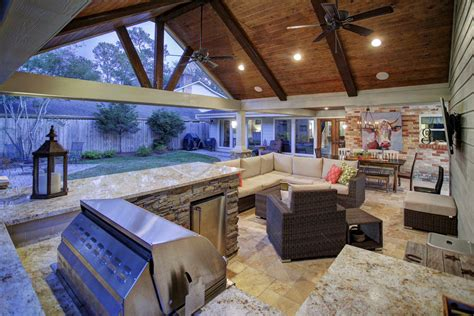 outdoor living covered patio texas custom patios