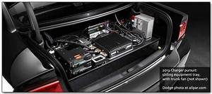 Dodge Charger Pursuit Police Car Trunk View Showing