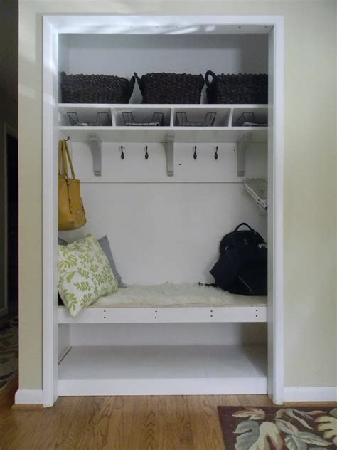 the diligent one coat closet to mini mudroom phase ii