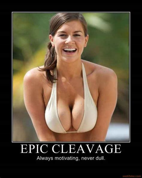 EPIC CLEAVAGE life time censors woman sexy breast smile