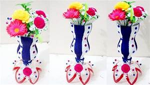 DIY - Plastic bottle flower vase - How to make flower vase ...