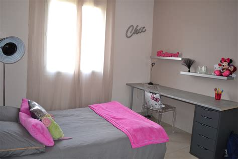 d馗o chambre ado chambre de ma fille ado photo 3 12 touche fuchsia coussins plaid tapis