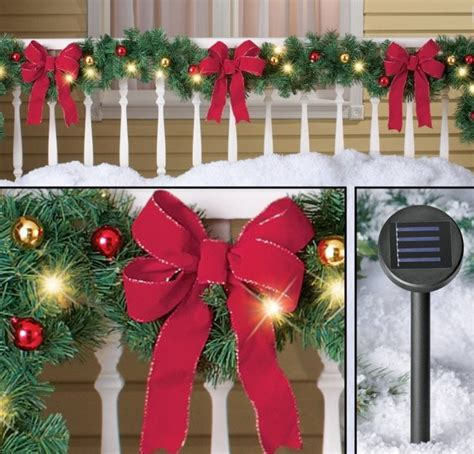 decorated solar lighted christmas garland christmas