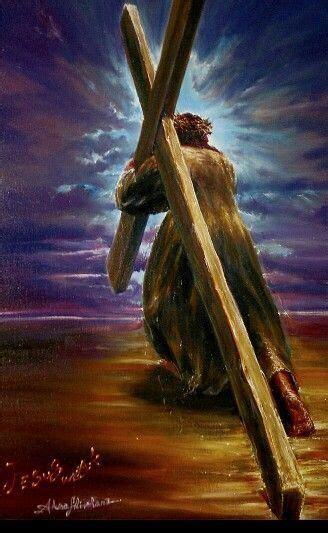 jesus carrying  cross jesus pictures jesus christ
