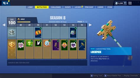 fortnite season   battle pass tiers  rewards