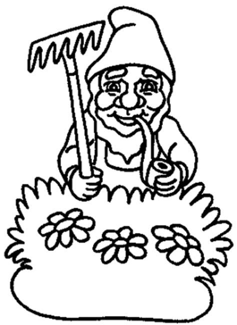 blumentopfzwerg ausmalbild malvorlage zwerge