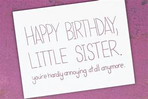 Funny Birthday Card - Birthday Card for Sister - Sister ...