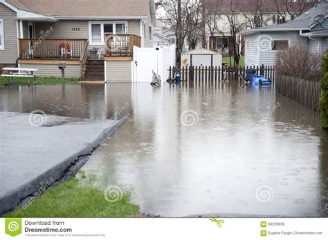 backyard flooding problems flooded backyard outdoors stock image image of damage 66228939
