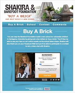 Shakira Launches Buy-A-Brick Campaign For Charity - Look ...