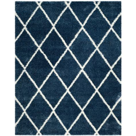 Safavieh Montreal Shag Blue/Ivory 8 ft. x 10 ft. Area Rug