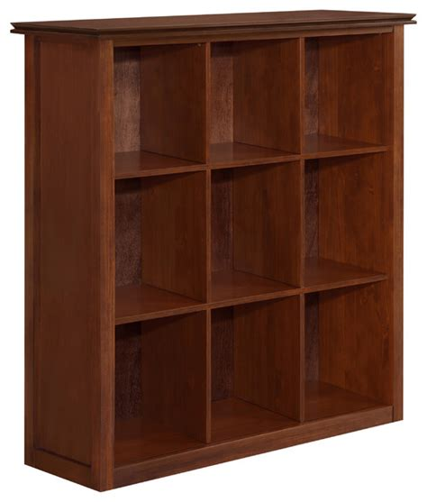 10 Inch Wide Bookcase by Artisan 44 Inch Wide X 46 Inch High Nine Cube Bookcase