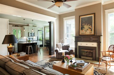 american foursquare revived traditional living room