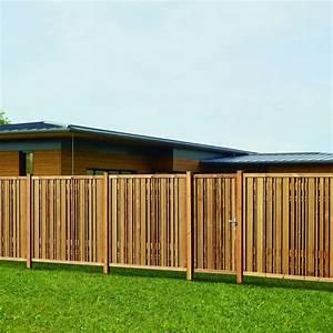 Panneau De Cloture En Bois : panneau de cl ture lames d structur es piveteaubois ~ Premium-room.com Idées de Décoration