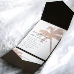 wedding invitations sets tropical pocket wedding invitation sets ewpi005 as low as 1 69