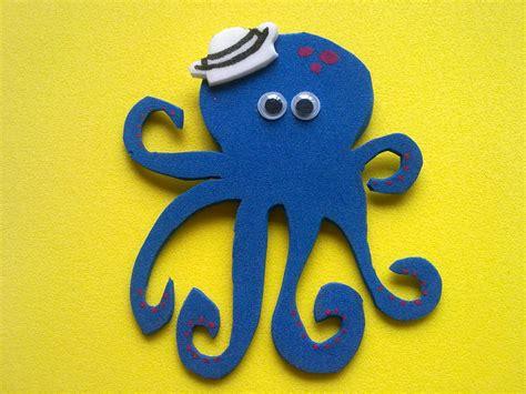 de pulpos de goma manualidades clara animales fondo mar