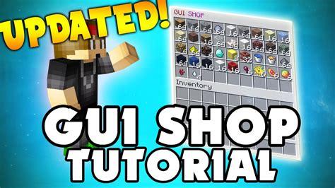 minecraft plugin gui shop virtual shop  players
