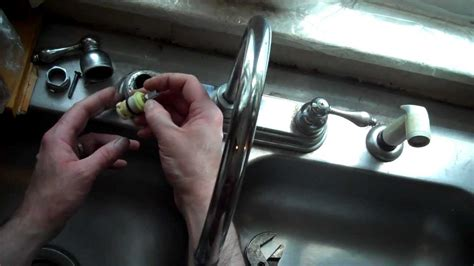 replace  washer  spring   delta style sink